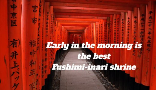 Early in the morning is the best in Fushimi-inari shrine