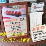 オススメをご紹介!京都で食べて後悔しない、「古都香(ことか)」のみたらし団子