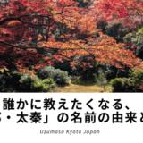 誰かに教えたくなる京都の地名の読み方、【太秦】名前の由来は、秦氏が納めたあるものがきっかけだった