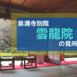 拝観の見所は3つ。泉涌寺・別院の【雲龍院】は、京都駅から一番近い奥座敷